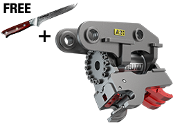 Heli-Tilt Quick Coupler with Free Knife