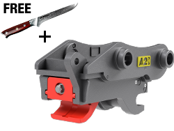 Sure-Grip Quick Coupler with Free Knife
